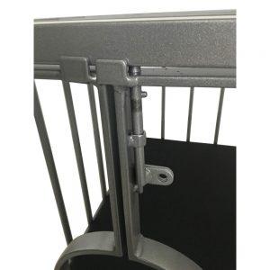 Playroom - Cage métal BDSM pour esclave / doggy démontable - détail du verrou