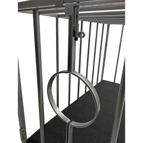 Playroom - Cage métal BDSM pour esclave / doggy démontable - trou pour la tête