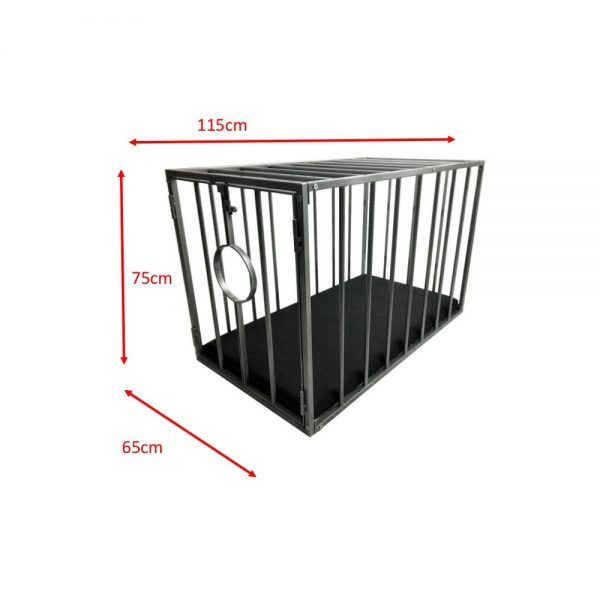 Playroom - Cage métal BDSM pour esclave / doggy démontable - dimensions