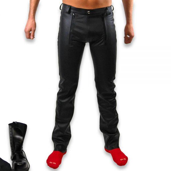Cuir - Une production Rex - Pantalon à pont en cuir de cheval - Avant