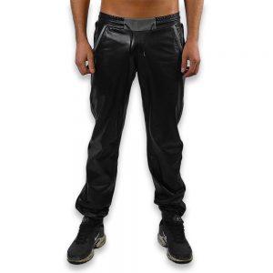 Cuir - Une production Rex - Pantalon de jgging en cuir de vachette - Avant