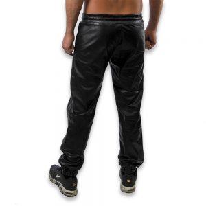 Cuir - Une production Rex - Pantalon de jgging en cuir de vachette - Arrière