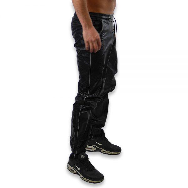 Cuir - Une production Rex - Pantalon de jgging en cuir de vachette - Profil