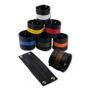 Cuir - Une production Rex - Poignet cuir zippé avec bande de couleur