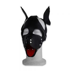 Cuir - Une production Rex - Tête de chien cuir, noir - Face