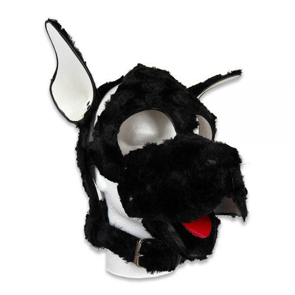 Une production Rex - Tête de chien en fourrure synthétique sur mesure - Profil